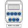 Tablou organizare de  santier 7 x prize industriale : schuko 16A IP54 250V