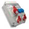 Tablou organizare de  santier 1 x priza industriala : 5x16A IP54 400V 1 x priza industriala : 5x32A IP54 400V