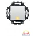 Intrerupator cu LED cablare rapida 1P 10AX alb, Gewiss Dahlia, GW35002W